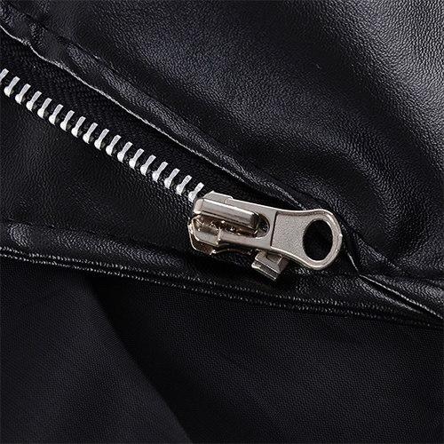 Women s Fashion Tops Female Leather Jacket Zipper Ladies Leather Coat Female Slim Short Leather Jack