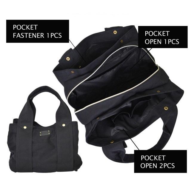 キャンパスバッグ トートバッグ  マザーズバッグ 大容量 ママバッグ 通勤 A4対応 収納 バッグ
