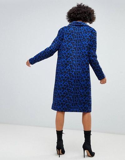 ミスガイデッド レディース コート アウター Missguided slim coat in leopard print