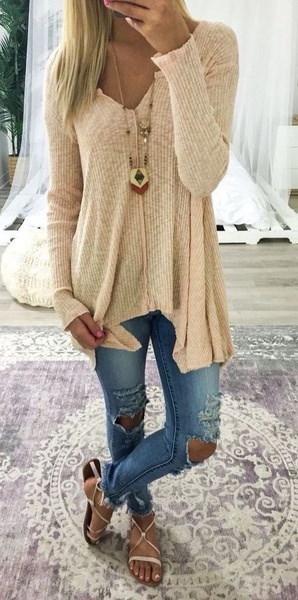 スタイリッシュなレディース女性の新しいファッションロングスリーブOネックスプリットウールプルオーバーセーターTシャツブラウストップス
