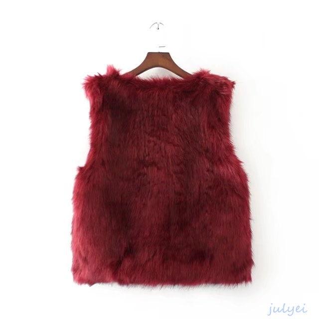 欧米風 ファーコート コート フェイクファー アウター 冬 コート 厚手 暖かい  無地 ベスト ノースリーブ 2018早春 アウター