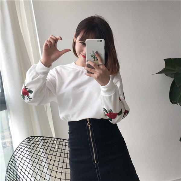 実写秋新型袖刺繍バラスウェットパーカー流行ブランドカラー緩和