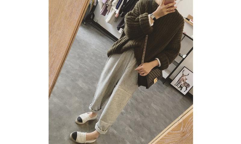 秋冬新作 韓国ファション セーター レディース ショート厚いニット コート 新作 可愛いセーター*優良品質 裏起毛ニット アウター カジュアル 暖かいセーター
