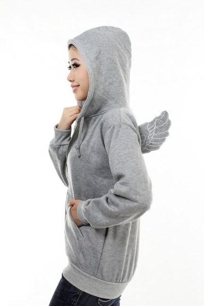 GSMの新しい女性の女の子天使の羽のパーカージャケットのスウェットフード付きコートアウタートップ -  N4