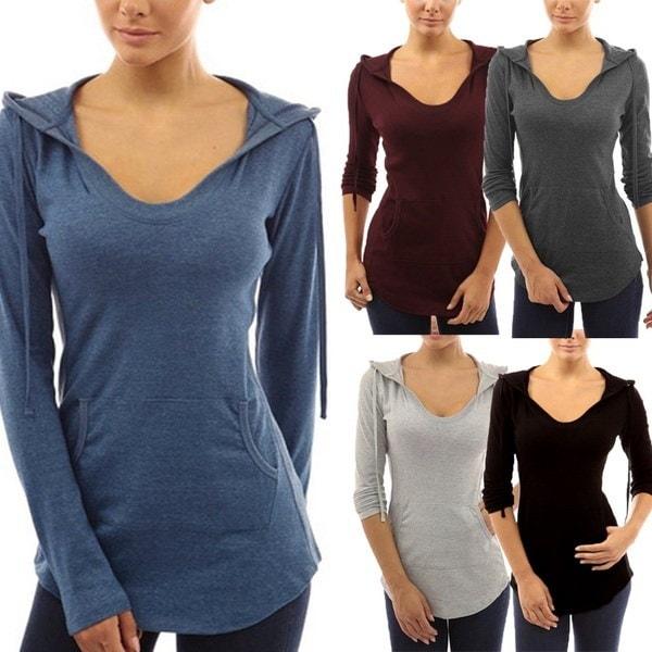 女性のファッション秋と冬の長袖プリント迷彩Tシャツ