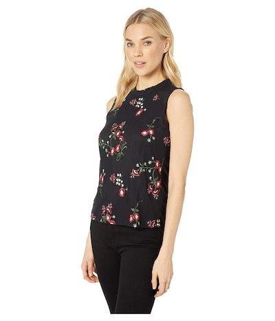 トミーヒルフィガートミー ヒルフィガー レディース シャツ トップス Ruffle Neck Floral Print Knit Top