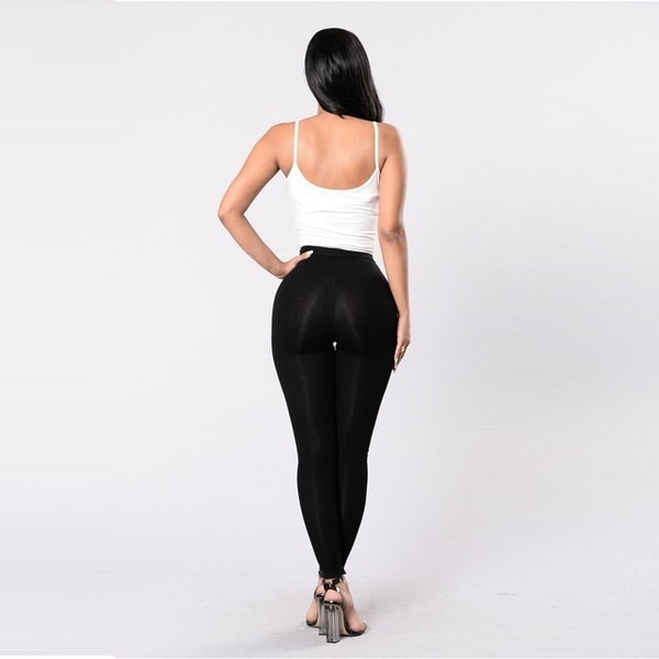Damen Stretch Hose Jeggings Treggings Leggings Lace Up R?hre Stoff Leggins Club