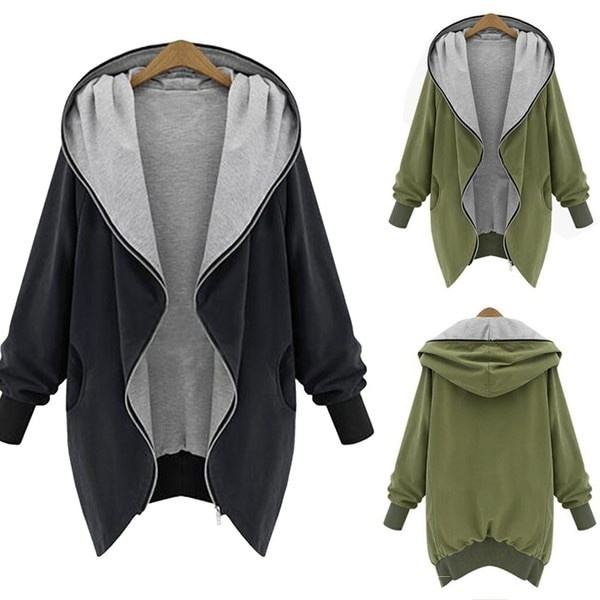 Warm Winter Women Zip Hooded Parka Overcoat Jacket Coat Trench Outwear Cardigans L - 5XL