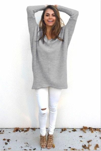 春秋の女性プルオーバーセーターコートルーズカジュアル薄型ウォーム