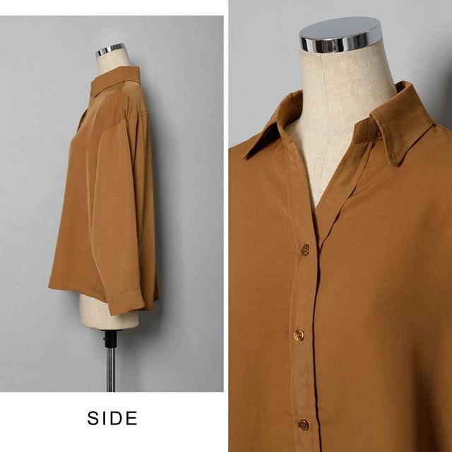 【国内発送】ゆったりドルマンスリーブスキッパーシャツ