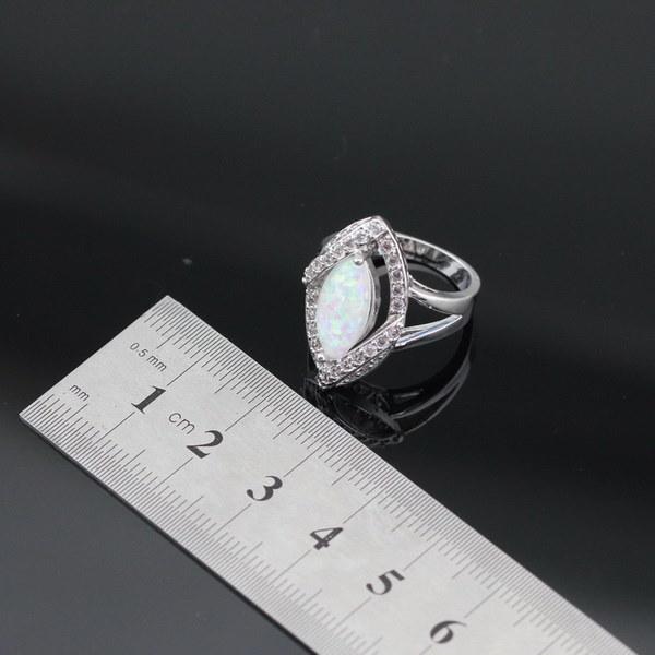 925シルバージュエリーセットマーキスシェイプホワイトオーストラリアオパールジルコンネックレスペンダントドロップイヤリングRi