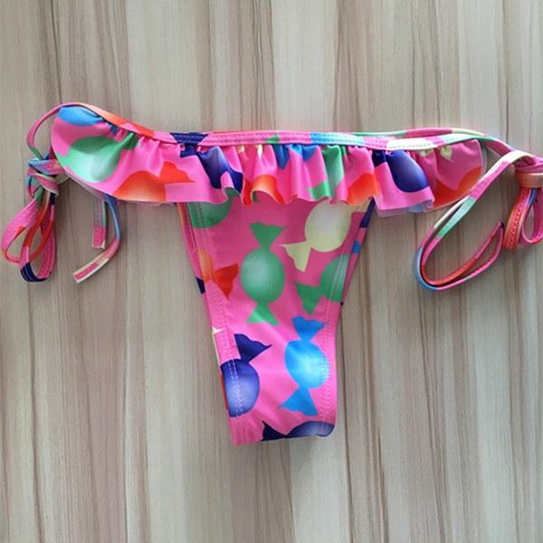 2017ホットセクシーなビキニセットプリント水着女性ビーチ入浴スーツプッシュアップ包帯ビキニマイヨールデB
