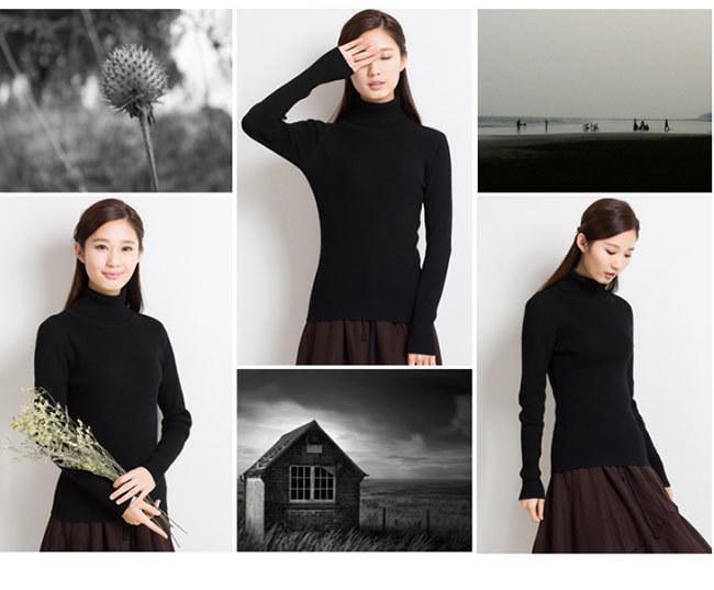 定番色を揃えた全18色!AW新作!温かさの秘密は発熱する毛糸と保温する編地のダブル機能!新感覚の「あったかい♪」レディース ニットカラフル セーター ショートトップス タートルネック 長袖 韓国ファシ
