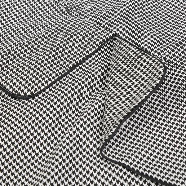 Women Casual Doll Collar Half Sleeve Grid Slim Falbala Elegant Dress C99D #TA
