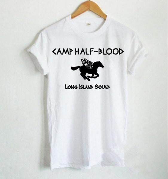 Camp Half Blood Shirt Percy Jackson Shirt Camp Half Blood Long Island Sound  Letter Print Women Tshi