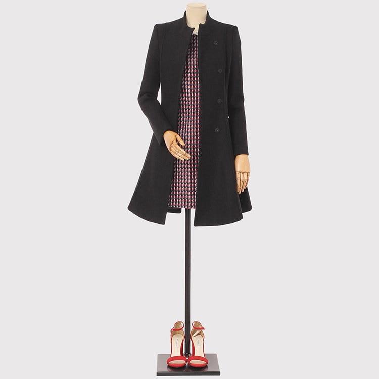 [ベルトストラップ] [ウール混] ハイネックフェミニンウールコート/韓国ファッション