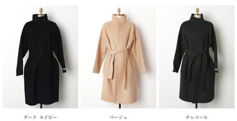 【送料無料】ざっくりとしたルーズなシルエットで、さくっと羽織ってサマになるコート。コート アウター チェスターコート コーディガン ガウンコート 冬 ウエストリボン オーバーサイズ 大きいサイズ ドロ