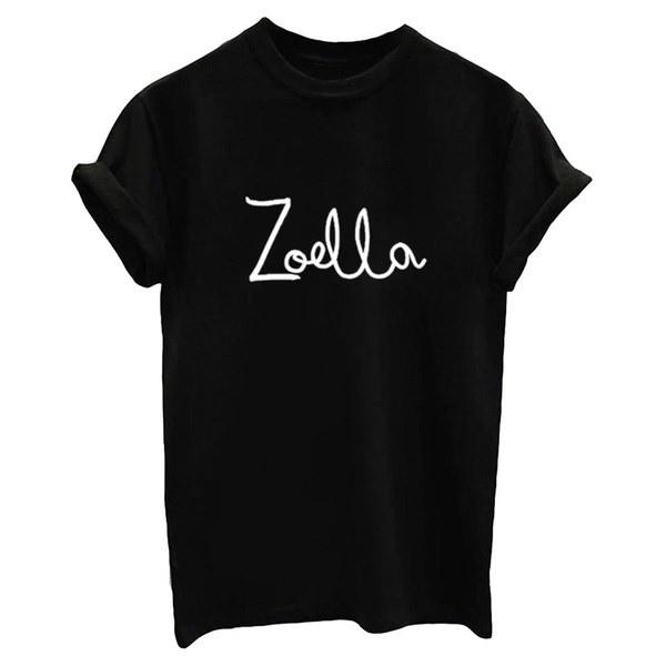 レタープリントTシャツレディースZoella Casual Funny Teeオールマッチトップス女性