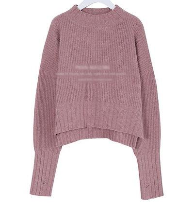 着やせ効果があるスリット入りセーター☆ 0902