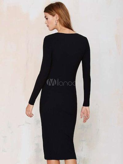 Sexy Side Split Bodycon Dress