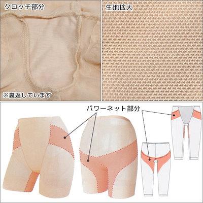 送料無料3枚セット 美bottom ロングボトムス 1枚履き可能 ショーツ LLサイズ パンツ スパッツ レギンス アズ as | 女性下着 婦人肌着 レディースインナー レディス ズボン ボトムス