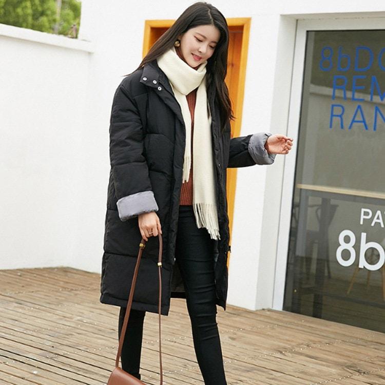 冬の必需品!ロングコート 中綿コート ミディアム ロング アウター コート レディース 防寒着 体型カバー 冬服 冬物 厚手