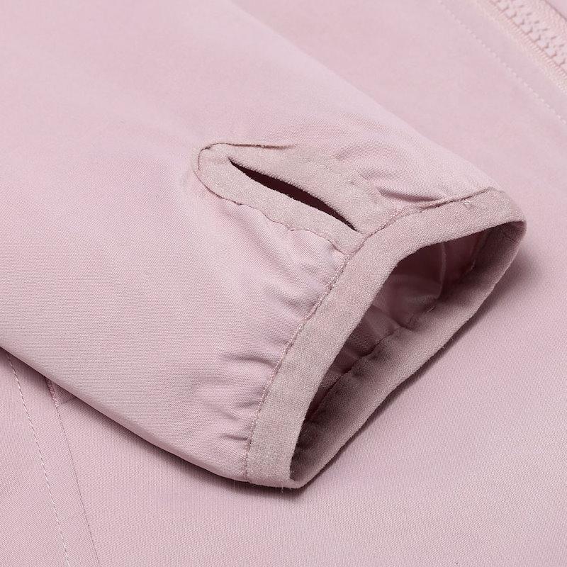 女性ファッションフード付きロングスリーブソリッドジップアップ軽量ショートジャケット
