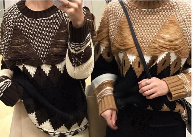 [55555SHOP] 2017 ヴィンテージ ゆったり ニット セーター