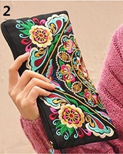2016人気女性レディースバッグハンドバッグ財布国レトロ刺繍電話変更コインバッグは、ドリームSAを主張する