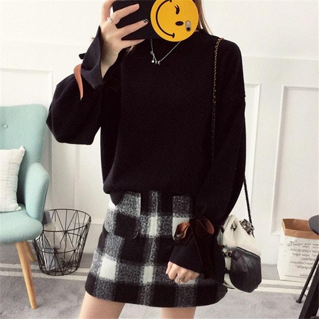 レディース  セーター   ♥韓国ファッション♥セーター  全3色♥ 刺繍 Sweet 長袖  knit swearter  ゆるかニットセーター ゆとりの、修身、独特のデザイン  フレア袖 送料無料