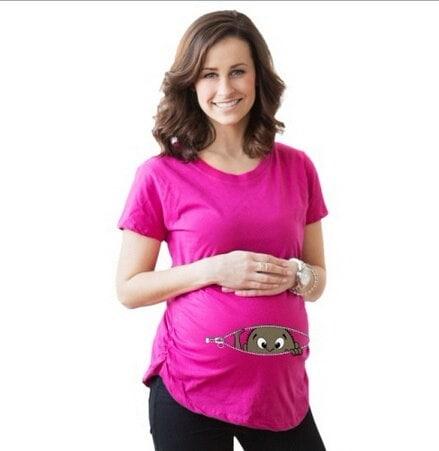 ファッション妊娠マタニティTシャツカジュアル妊娠服