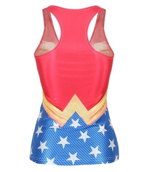 女性のファッション現代スリムクルーネックワンダーウーマンサインプリントノースリーブTシャツノースリーブセーター