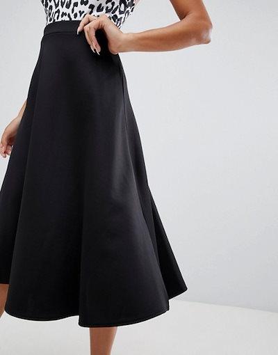 ブーフー レディース スカート ボトムス Boohoo circle midi skirt in black