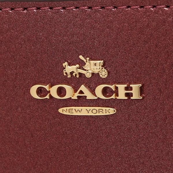 コーチ 財布 アウトレット COACH F20145 IME42 アコーディオン ジップ ウォレット レディース 長財布 無地 メタリックチェリー 赤