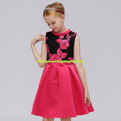 ★★Elegant Embroidery Boutiques Girls Costumes Party Dress Chinese Style Fashionable Children Dress