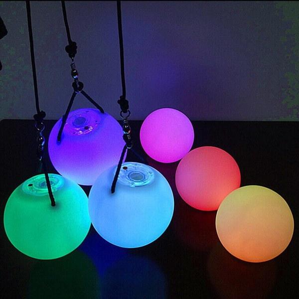 選択多色グローPOIスローボール、グローPOI投げボール多色光ハンドボール