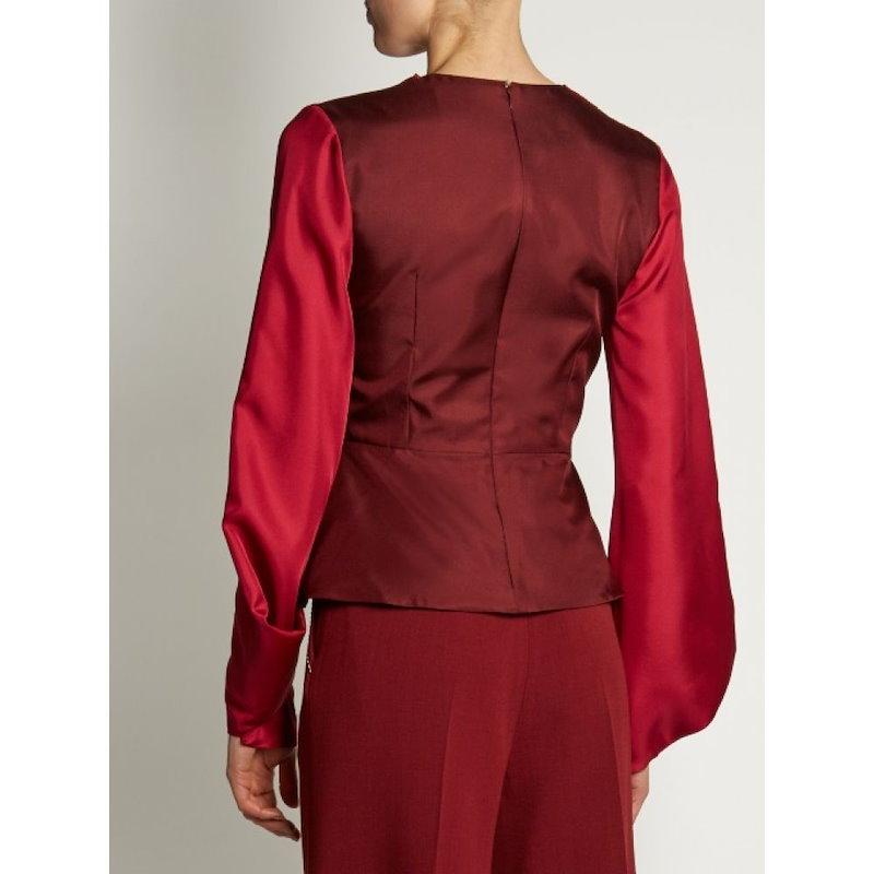 ロクサンダ レディース トップス【Voru origami-sleeved draped top】Scarlet-red