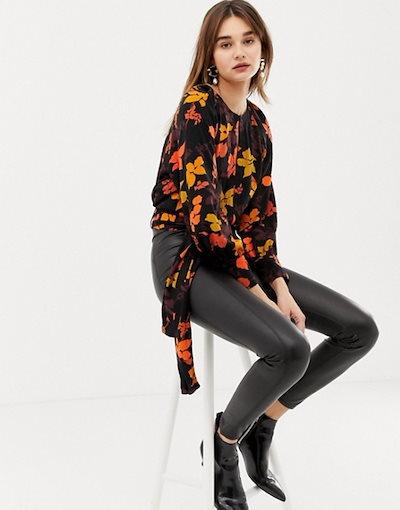 マンゴ レディース シャツ トップス Mango floral printed blouse