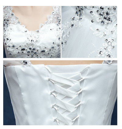 Carrousel(カルーセル)ウェディングドレス ロングドレス パーティードレス ワンピース ドレス フォーマルドレス 韓国風 花嫁ドレス 結婚式 二次会 演奏会 披露会 編み上げタイプ 豪華なウェディングドレス 痩せっぽい 刺繍
