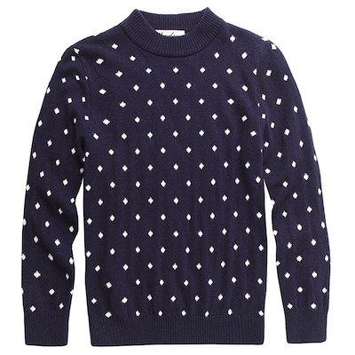 子供のウールのセーター秋冬ニットボーイズOネックカーディガン