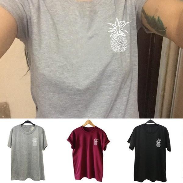 レディースファッションショートスリーブカジュアルなアロークルーネックTシャツシャツブラウストップ