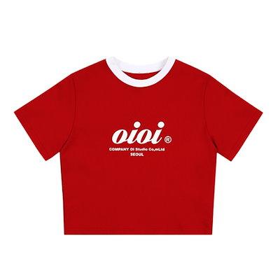 オアイオアイ[O!Oi] 5252 by O!Oi Serif Logo Crop T-Shirts 韓国 正規品 オアイオアイ Tシャツ 半袖 SNSで話題