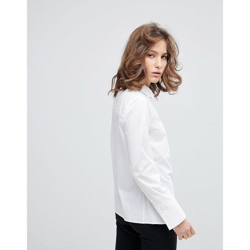 セレクテッド オム レディース トップス ブラウス・シャツ【Selected Femme Long Sleeved Shirt】White