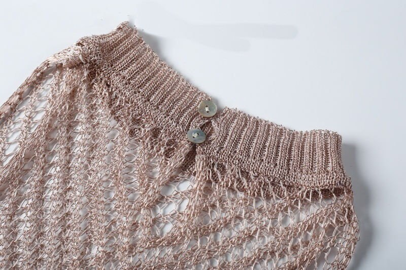 新しい女性レースのかぎ針編みの水着スーツビキニ水着は、ビーチドレストップをカバーします。
