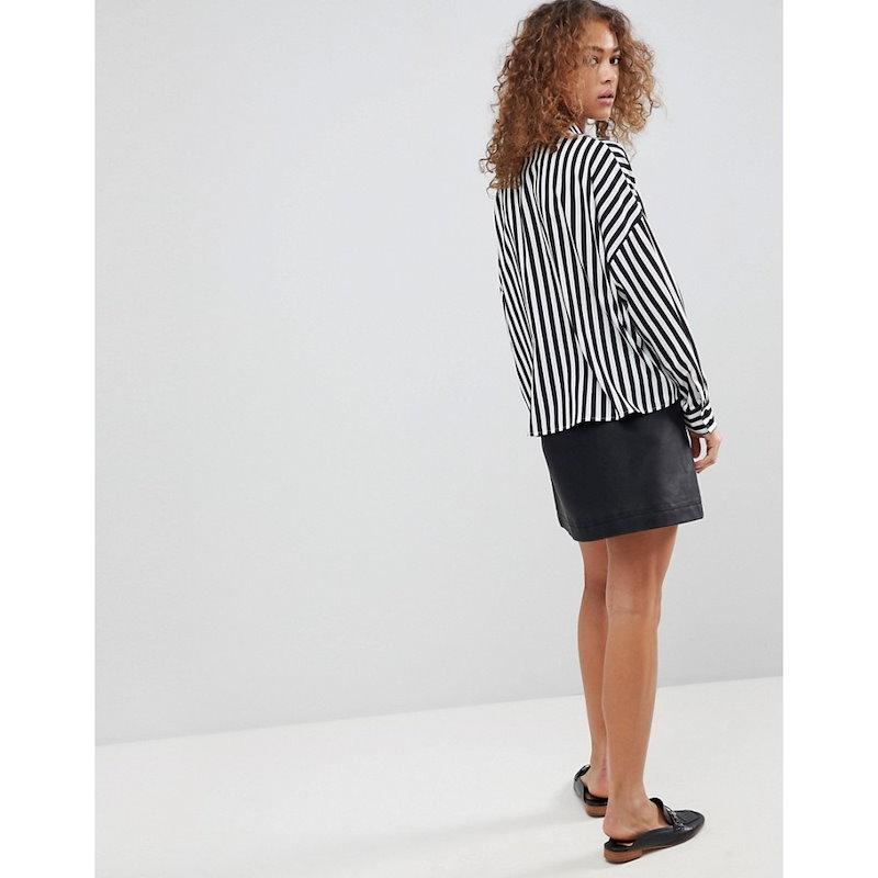 エイソス レディース トップス ブラウス・シャツ【ASOS Crop Shirt in Stripe】Multi