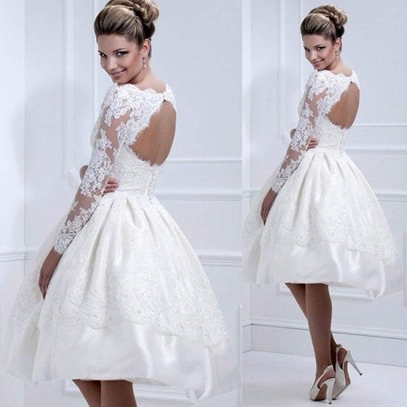 ファッション女性シアーメッシュウェディングドレスウェディングドレスレディースプリーツパーティードレスW_C