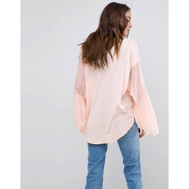 フリーピープル レディース トップス【Free People Still Got It Flared Sleeve Top】Pink