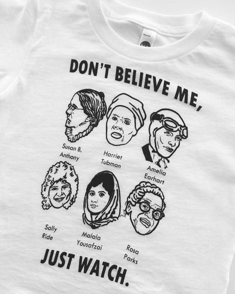 Don t Believe Me Just Watch Quotes Feminism T-Shirt Women Tumblr Fashion White Graphic Tee Causal To