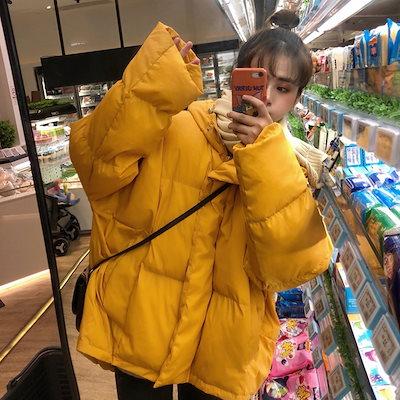 シックなコットンドレス女性2018新しい冬の服 Bf 緩い肥厚パンスーツの長い綿のコートの韓国語版