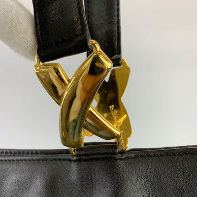 美品 正規品 Paloma Picasso パロマピカソ ブラック レザー ゴールド 金具 トートバッグ ショルダーバッグ ハンドバッグ JR4-1【中古】レディース【国内全品メール便送料無料&合計1